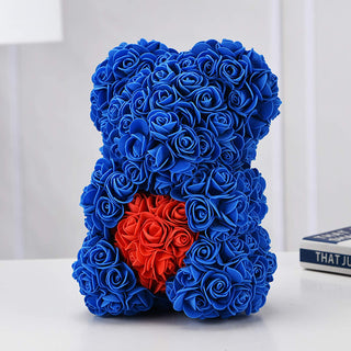 Blue Valentines Day Rose Flower Bear Valentine Gifts