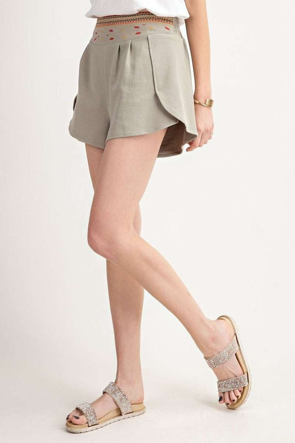 Women High Rise Waist Shorts