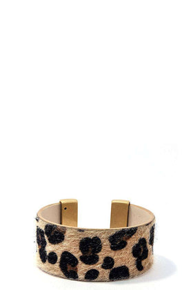 Chic Leopard Fur Fashion Bangle Bracelets