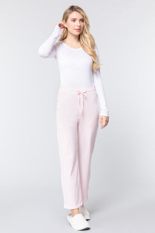 Pink Cozy Cotton Pajama Pants