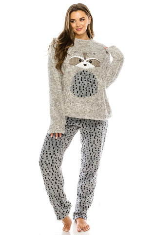 Raccoon Flannel Pj Set