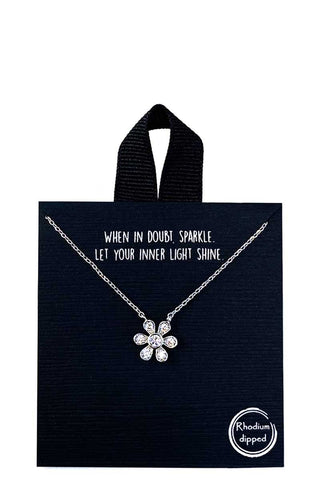 Flower Necklace 18k Gold