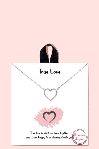 True Love Pendant Necklace18k Gold Rhodium Dipped