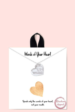 Words Of Your Heart Necklace18k Gold Rhodium Dipped