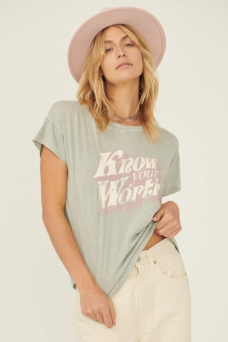Know Your Worth Graphic T-shirt