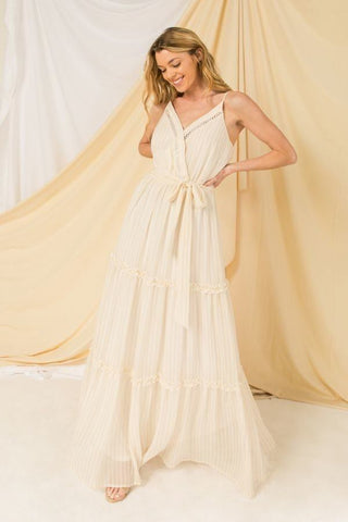 Women's Woven Spaghetti Strap Maxi Dress