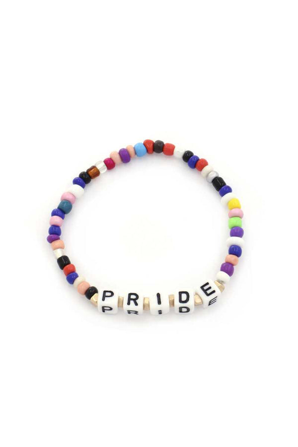Pride Quote Beaded Stretch Bracelet