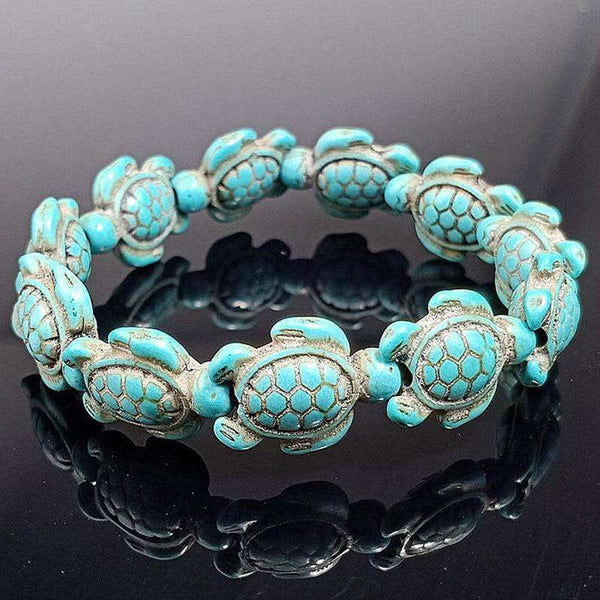 Green Fashion Style Sea Turtle Beads Bracelets