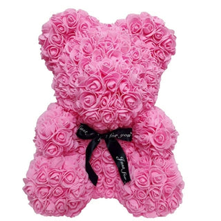 Pink Rose Teddy Bear Rose Flower Valentines Day Gift