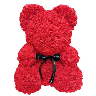 Red Rose Bear Teddy Bear Flower Bear