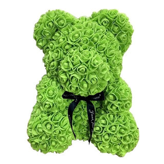 Green Rose Teddy Bear Rose Flower Valentines Day Gift