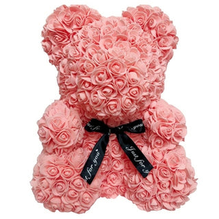 Pink Valentines Day Gift Rose Teddy Bear Rose Flower