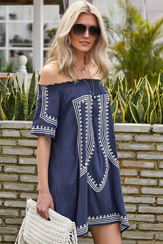 Bohemian Off The Shoulder Beach Dress