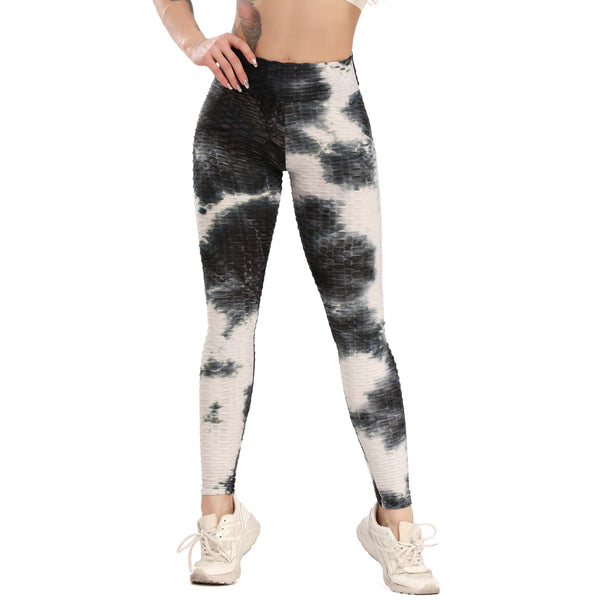 Women's Honeycomb Textured High Waist Gym Leggings