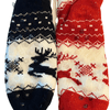 Christmas Reindeer Holiday Fuzzy Fleece Knit Socks