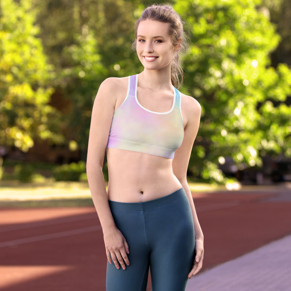 Women's Cotton Candy Tie Dye Sports bra