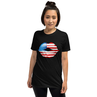American Flag Mouth Short-Sleeve T-Shirt