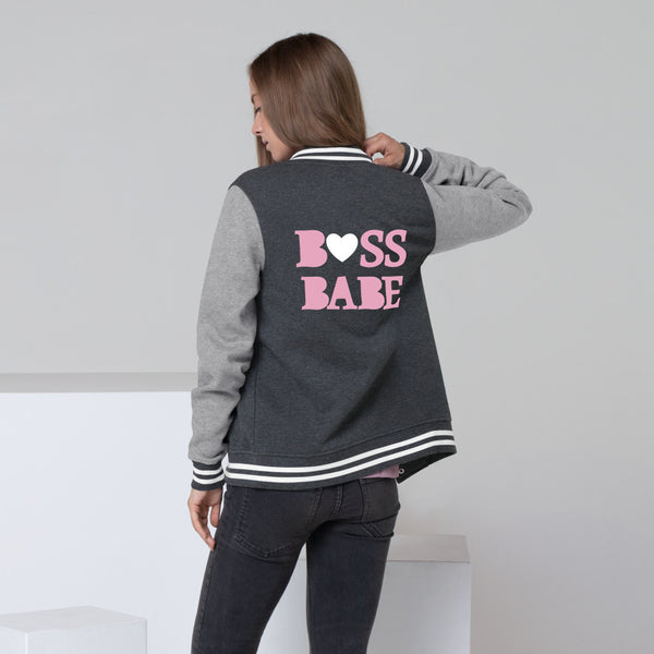 Boss Babe Heart Women's Letterman Jacket