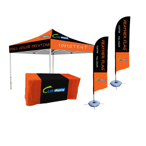 Custom tents flags and tablelcoth( Buy together, Save more!!!)