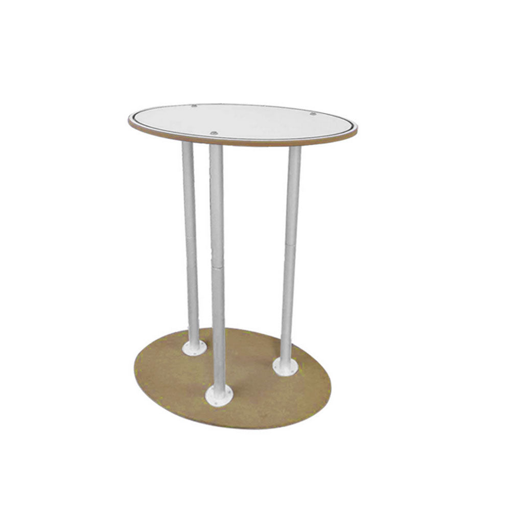 Portable Counter Podium for trade show  booth-Oval