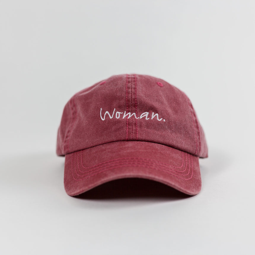 "Jackie Hill-Perry - ""Woman"" Dad Hat (Red)"