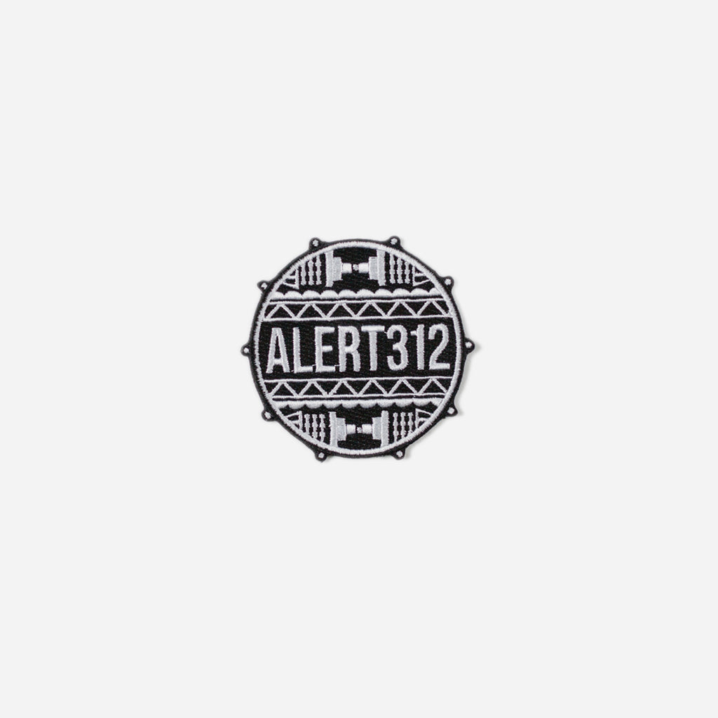 ALERT312 - Drum Head Logo Patch