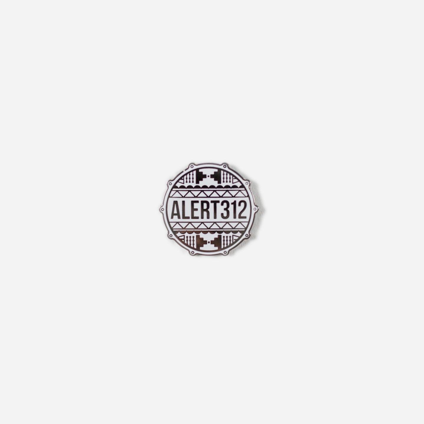 ALERT312 - Drum Head Logo Pin