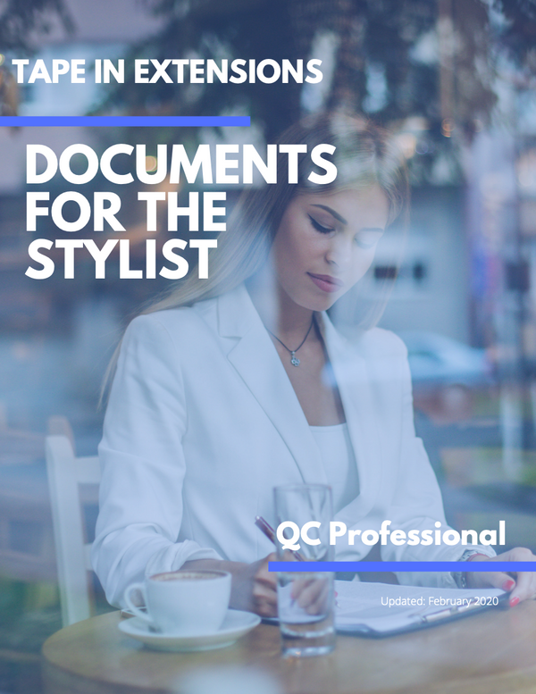 Tape In Extensions - Documents for the Stylist - Digital Download