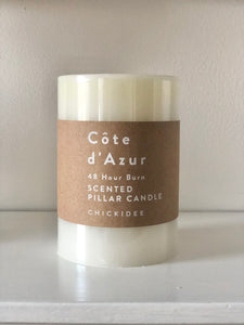 Côte d'Azur Pillar Candle - Medium