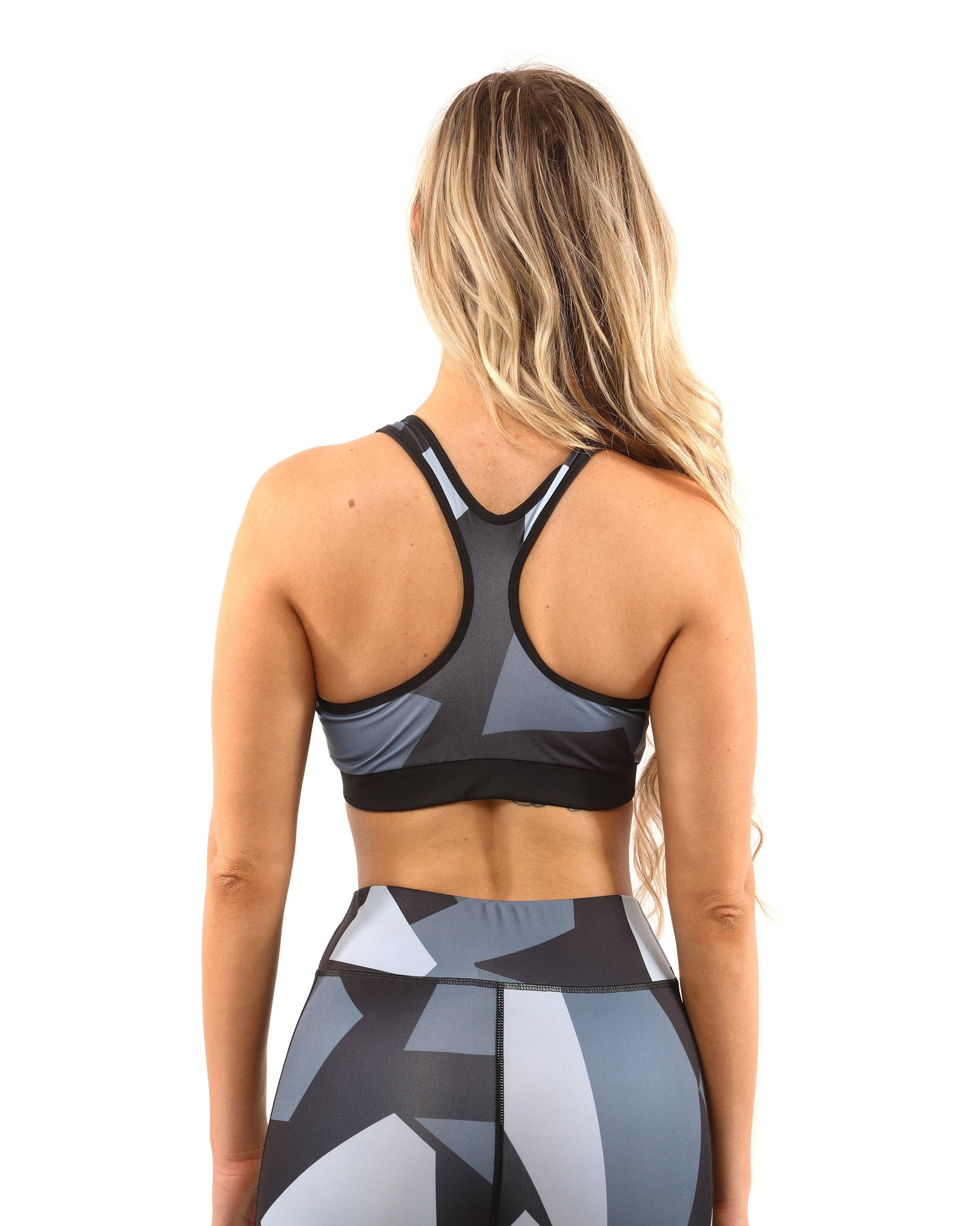 Bondi Sports Bra - Black/Grey - Chic Athletics