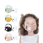 Load image into Gallery viewer, Star Print Valve Outdoor Face Mask With Eyes Shield