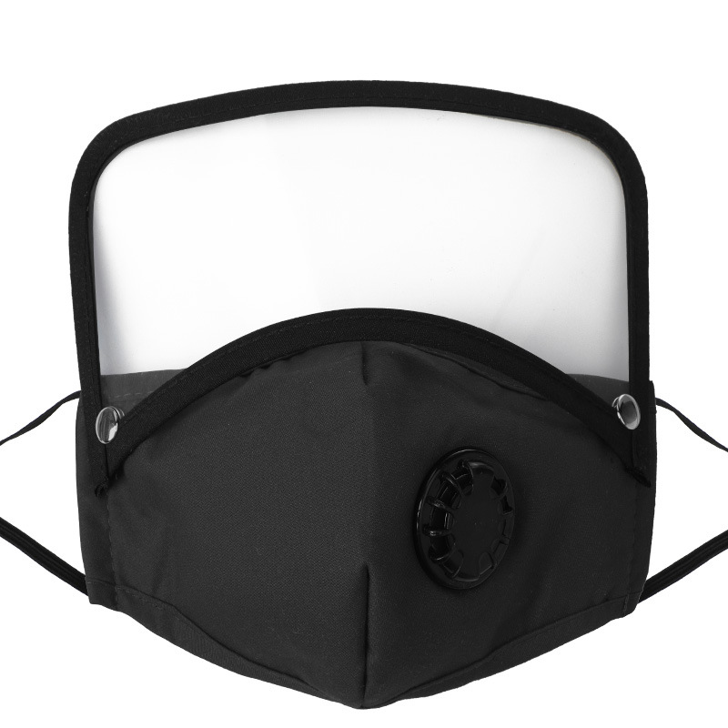 Breathable Valve Face Mask with Removable Eye Shield