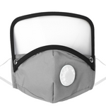 Load image into Gallery viewer, Breathable Valve Face Mask with Removable Eye Shield