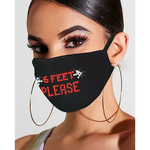 Load image into Gallery viewer, Letter Pattern Bling Rhinestone Face Mask