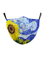 Load image into Gallery viewer, Sunflower Leaf Print Breathable Face Mask