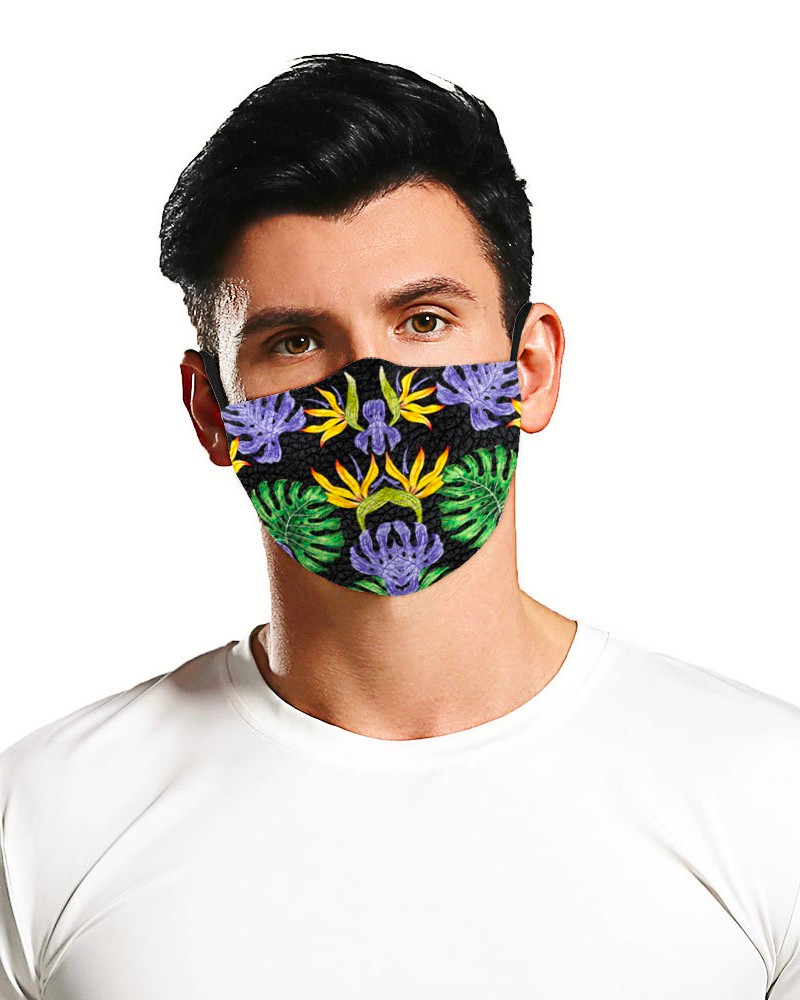 Sunflower Leaf Print Breathable Face Mask