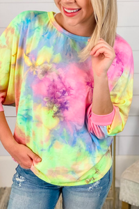 Let's Get Loud Open Back Tie Dye