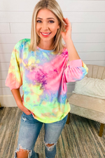 Load image into Gallery viewer, Let's Get Loud Open Back Tie Dye