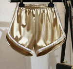 Load image into Gallery viewer, High Elastic Waist Solid Satin Yoga Shorts
