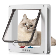Laden Sie das Bild in den Galerie-Viewer, Sailnovo Katzenklappe 4-Way Magnetic Lock hundeklappe Haustiertüre Cat Flap...