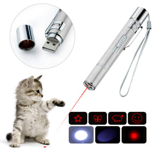 BiuCat LED Pointer Katzen Hund 3 in 1 Spielzeug Haustier Light Licht...