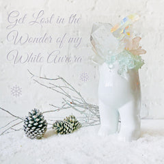 White Aurora Wonder - First Edition Tushiez Crystal Cluster