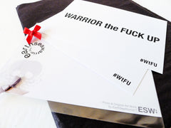 Warrior the F*ck Up Postcards - Set of Three