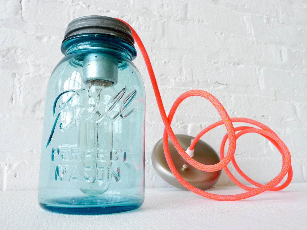 Industrial Lighting Vintage Mason Jar Pendant