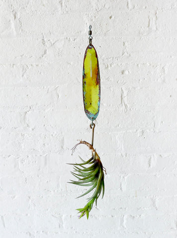 10% SALE Neon Yellow Salmon Lure Spinner Hook Air Plant Garden