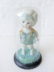 15% SALE Vintage Doll Encased in Glass Dome Ozma Emerald Return to Oz