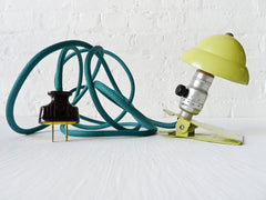 Vintage Industrial Neon Lime Mini Clip Night Light