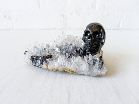 Dead Pirate Obsidian Skull Matrix Quartz Island