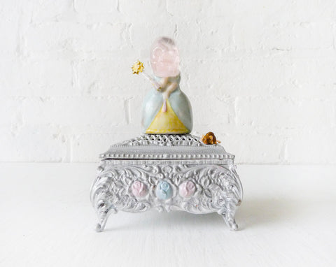 Cinderella's Deadly Fairy Godmother - Silver Jewelry Box with Porcelain Figurine