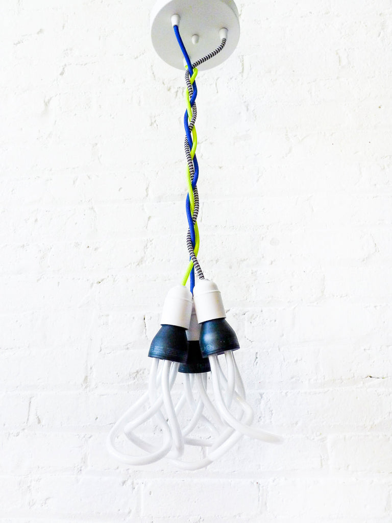 Chandelier Hanging Light DIY Custom Request Lighting Design Guide Color Cord Textile